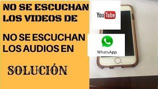 No se escuchan los videos en mi iphone, Iphone no suena (SOLUCION)