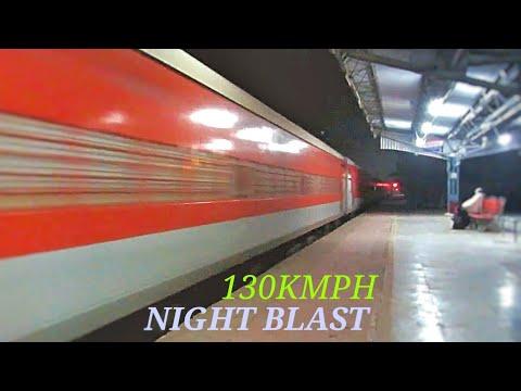 Purushottam Express Rips Khurja Jn At Top Speed (130km/hr)..!!!