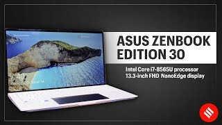 Asus ZenBook Edition 30: Limited-edition laptop with leather and gold design