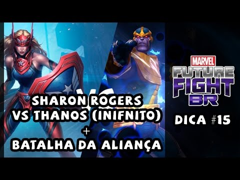 Sharon Rogers vs Thanos (infinito) + Batalha da Aliança - Marvel Future Fight