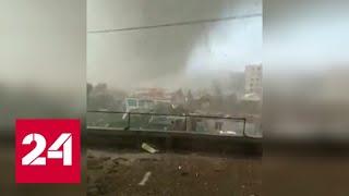"""На китайский остров обрушился тайфун """"Линглинг"""" - Россия 24"""
