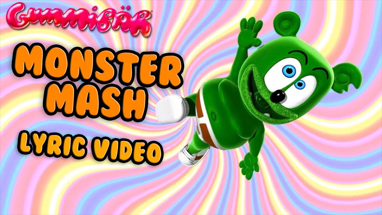 monster mash lyric video gummy bear song for halloween - youtube
