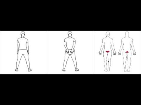 Bekkenbunnsøvelse i stående stilling