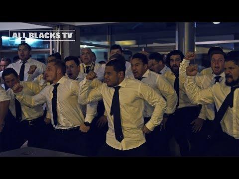 Māori All Blacks post-match with Brad Weber