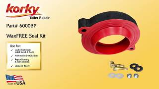 Wax Free Toilet Seal and Hardware Kit Product Overview