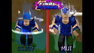 MUI Y SSJV SHOWCASE | Dragon Ball Z Final Stand - Roblox