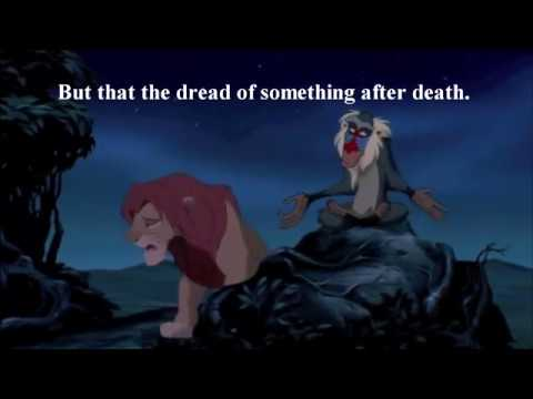 Hamlet The Lion King Quotes Contrasts Comparisons Youtube