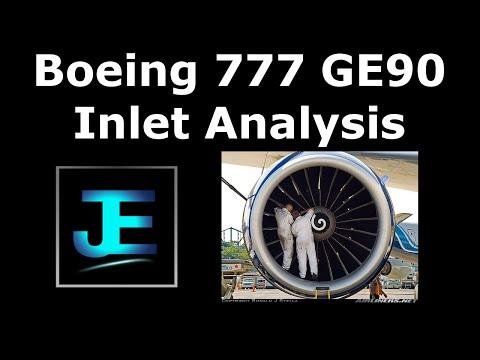 GE90 Turbofan Inlet/Diffuser Analysis