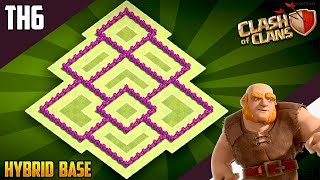 New BEST TH6 HYBRID/TROPHY Base 2018!! COC Town Hall 6 (TH6) Hybrid Base Design - Clash of Clans
