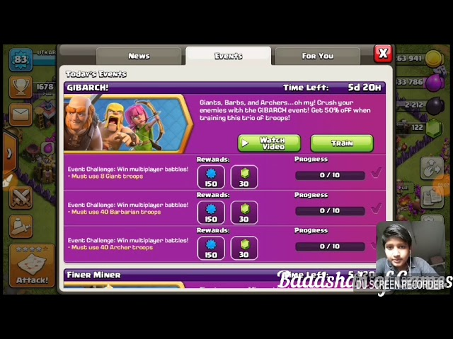 How to complete GIBARCH Event  in COC