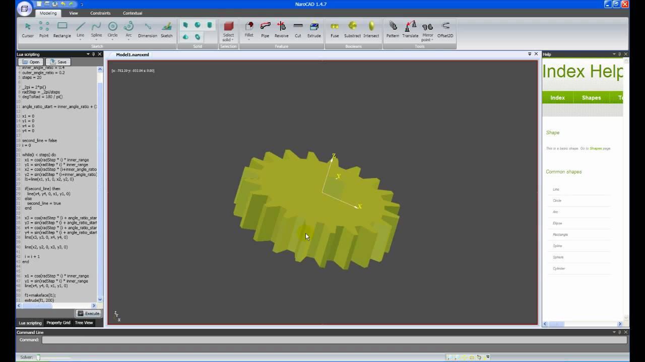NaroCAD short Lua tutorial - Y...