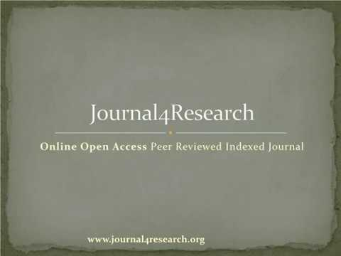 Journal4Research | Journal Research Paper Publication | Paper Publication online | Call For Paper