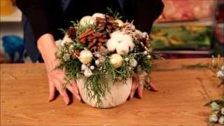 видео Новогодняя флористика своими руками
