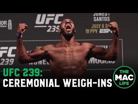 UFC 239 Ceremonial Weigh-Ins: Main Card