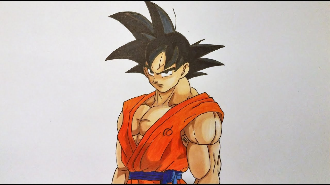 Drawing Goku Dragon Ball Super Youtube