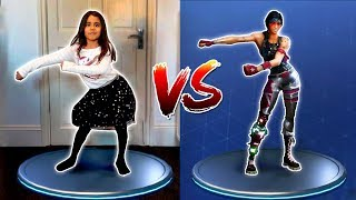 Fortnite Dance Challenge Sis Vs Bro - Fortnite Dance in Real Life - Riah et Aaron
