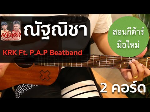 สอนกีต้าร์ เพลงง่าย คอร์ดง่าย EP.125 (KRK  ณัฐณิชา Ft. P.A.P Beatband) 2 คอร์ดง่าย