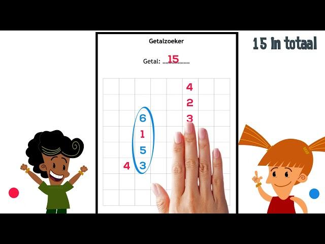 Optellen met dit leuke spelletje: getalzoeker