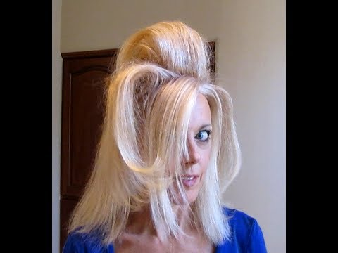 Big hair with velcro rollers