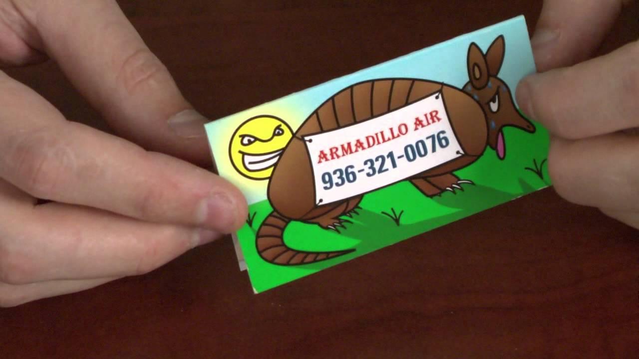 Creative Fold Over Business Card - YouTube