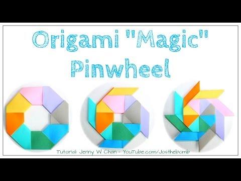 Origami Mini dragon egg magic ball Tutorial (Yuri Shumakov) - YouTube | 360x480