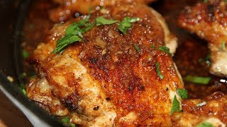 БЕЗ СОЛИ! ВКУСНЯТИНА из курицы! Куриные бедра в чесночно-медовом соусе.