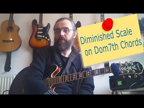 Diminished Scale on Dom7th Chords using Triads