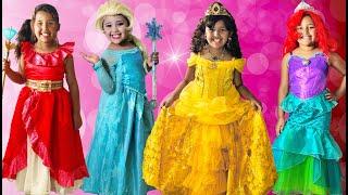 Download 16 Halloween Costumes Disney Princess Anna Queen Elsa Kids Costume Runway Show Mp3 and Videos