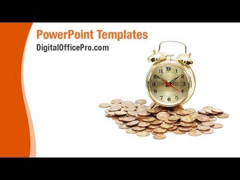 time and money powerpoint template backgrounds - digitalofficepro, Money Presentation Template, Presentation templates