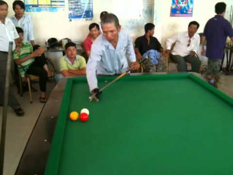 Carom Billiards straight rail bida Chu 10 Vs Chu 4 - Ken 291 points