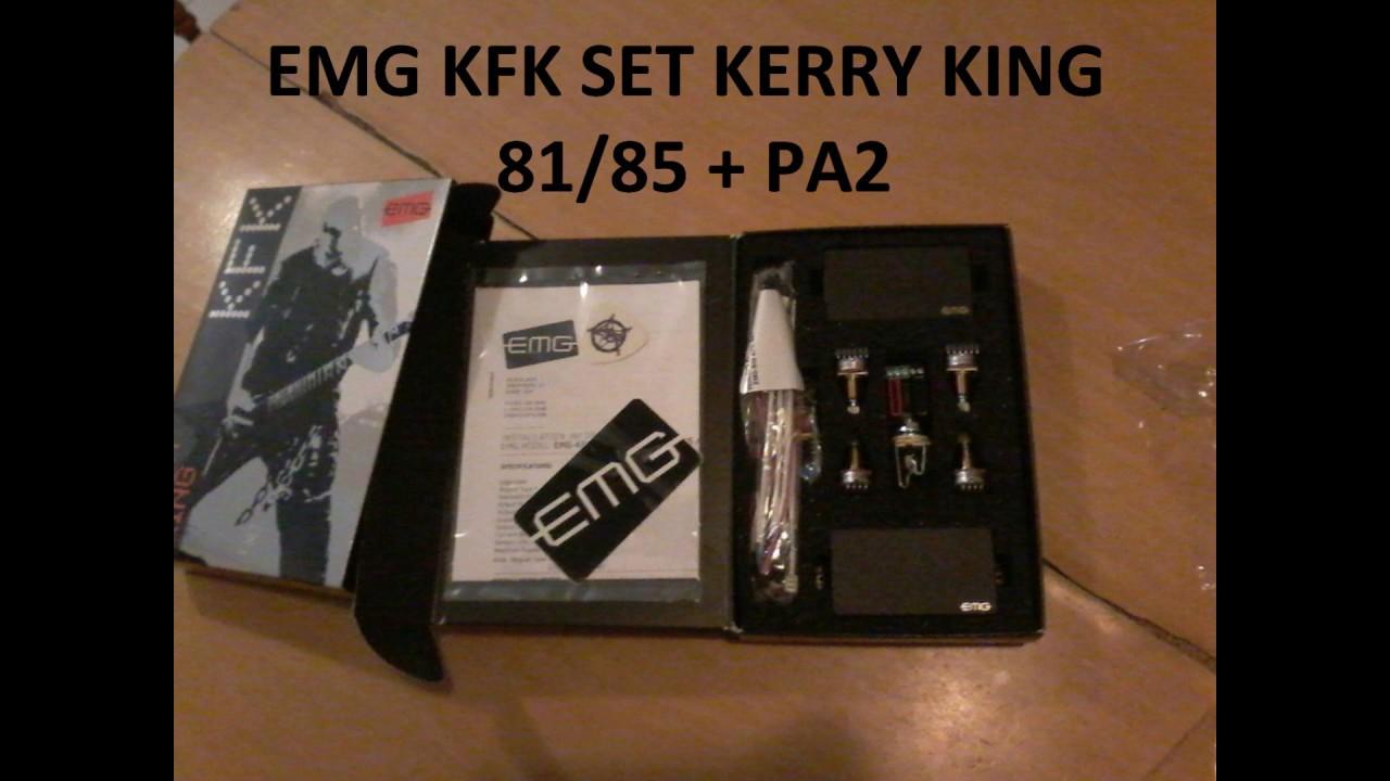Emg Pa2 Wiring Diagram Recessed Ceiling Lights Kfk Kerry King Set 81 85 Youtube