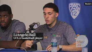 LiAngelo Ball accused of shoplifting in China arrive home