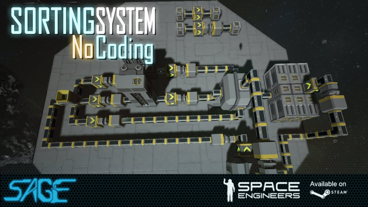 Space Engineers  Automated Sorting  Refining  System  Update 01 073