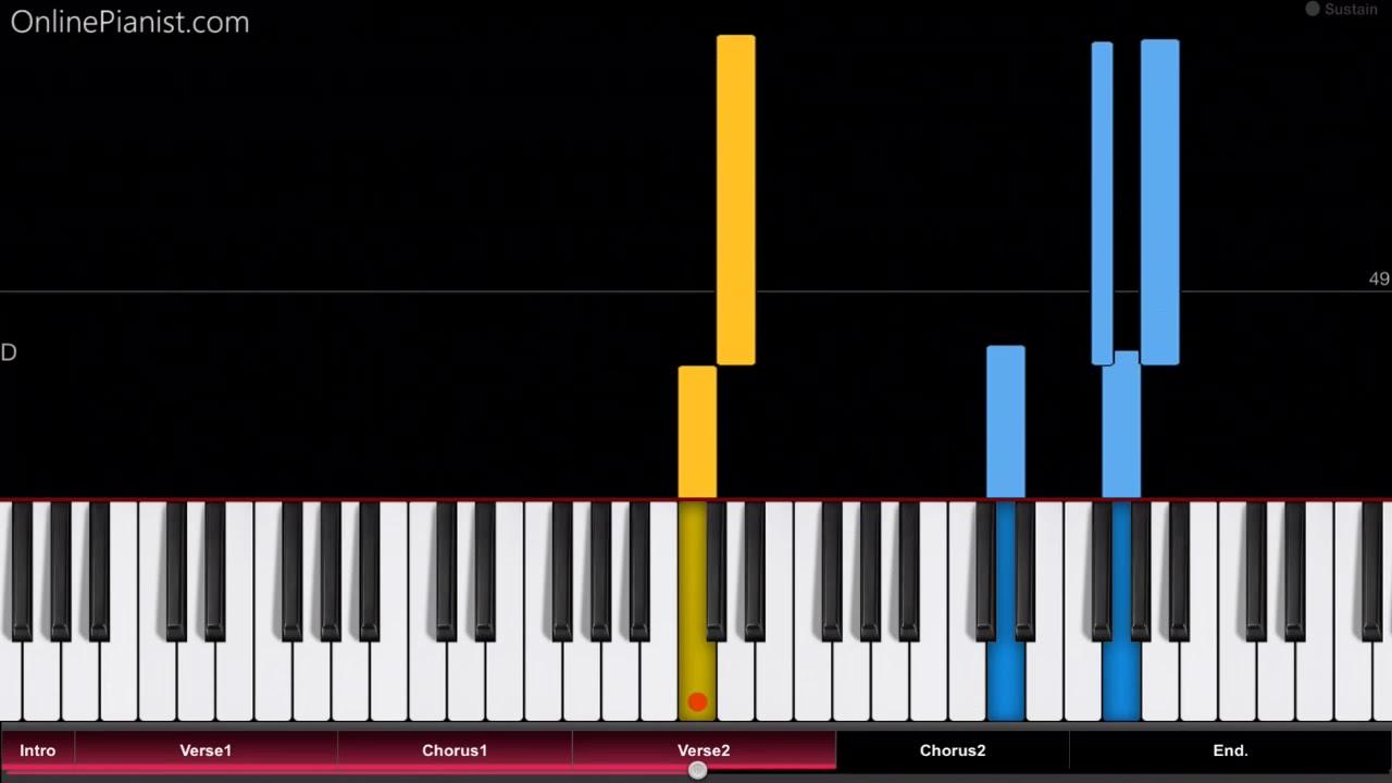 Pink Beautiful Trauma Easy Piano Tutorial