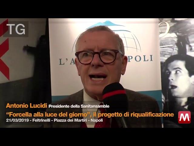 Antonio Lucidi presidente dell'Associazione Sanitansamble al TG
