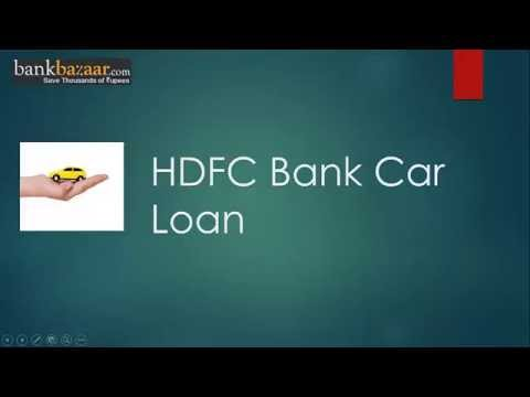 HDFC Bank Car Loan Online - YouTube