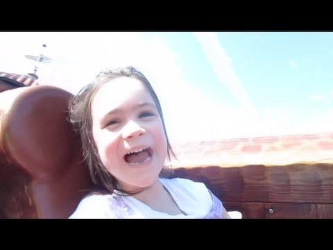 Bella riding the Seven Dwarfs Mine Train! Magic Kingdom