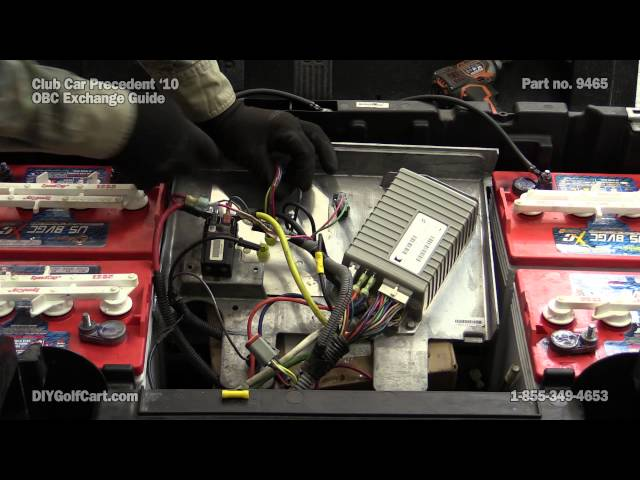 on board computer | how to replace on club car precedent golf cart | obc -  youtube