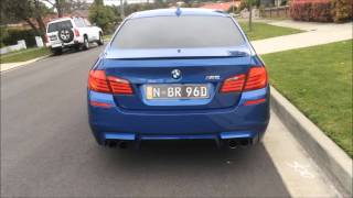 670hp f10 m5 twin turbo v8 w exhaust launch accelerations insane