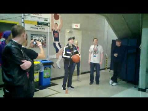 Backstage deadmau5 skrillex martin solveig chuckie play basketball warehouse 2011 all stars