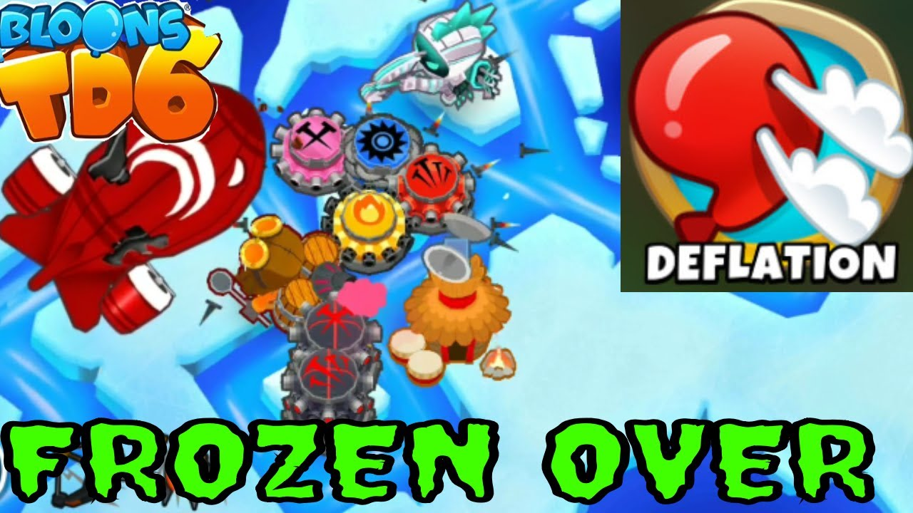 BLOONS TD 6 FROZEN OVER MAP ON EASY DEFLATION MODE