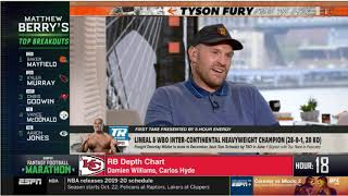 Stephen A. SHOCKED Why Tyson Fury Is The GREATEST EVER Heavyweight  | ESPN First Take