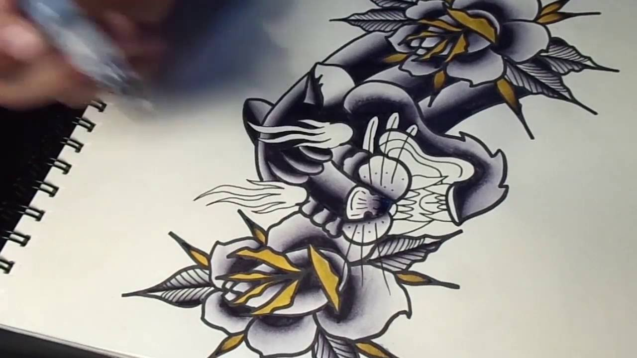 Panther Head Tattoo Designs