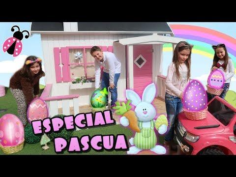 ¡Buscamos regalos sorpresa en mi terraza! 🐰 Especial de Pascua 2018