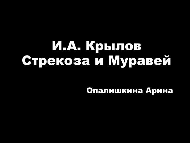 Изображение предпросмотра прочтения – АринаОпалишкина читает произведение «Стрекоза и Муравей» И.А.Крылова
