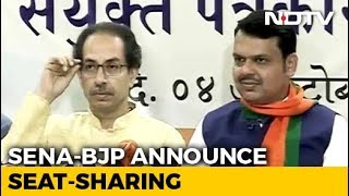 Sena To Contest 124 Of 288 Maharashtra Seats, 164 For BJP, Smaller Allies