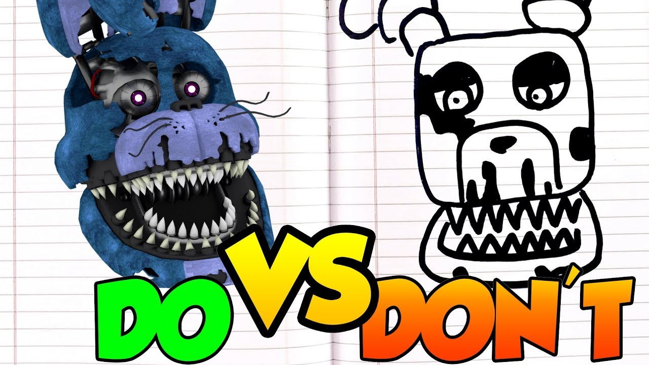 Learn How To Draw Nightmare Bonnie From Five Nights At Sketc ... | 720x1280