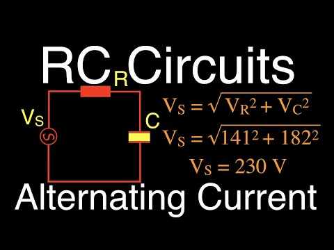 RLC Circuits (10 Of 19) Series RC; Calculating Impedance, Current And Voltage
