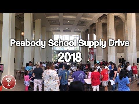 Peabody School Supply Drive 2018