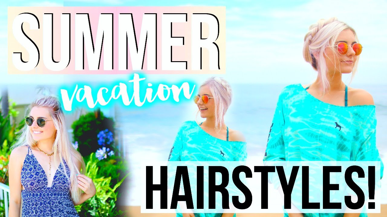 cute no heat hairstyles for summer vacation! | aspyn ovard